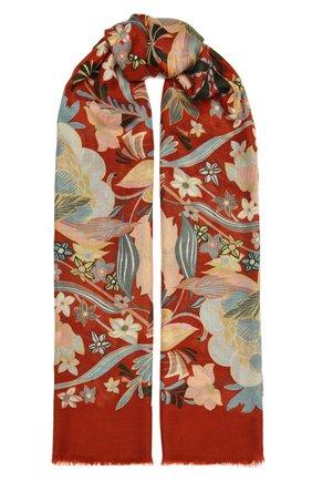 Женская шаль kykuit из кашемира и шелка LORO PIANA оранжевого цвета, арт. FAL3850 | Фото 1
