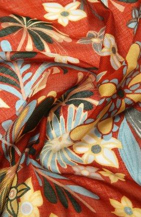 Женская шаль kykuit из кашемира и шелка LORO PIANA оранжевого цвета, арт. FAL3850 | Фото 2