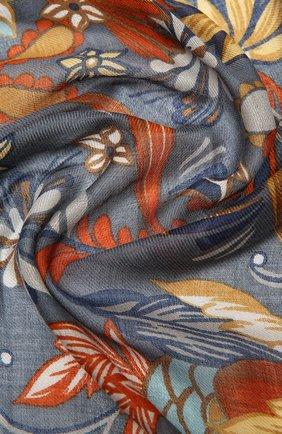 Женская шаль kykuit из кашемира и шелка LORO PIANA синего цвета, арт. FAL3850 | Фото 2