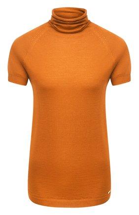 Женский пуловер из кашемира и шелка KITON оранжевого цвета, арт. D50702062 | Фото 1