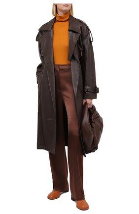 Женский пуловер из кашемира и шелка KITON оранжевого цвета, арт. D50702062 | Фото 2