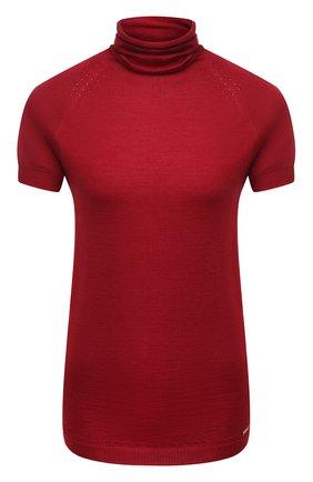 Женская пуловер из кашемира и шелка KITON бордового цвета, арт. D50702051 | Фото 1