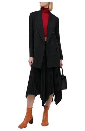 Женский пуловер из кашемира и шелка KITON бордового цвета, арт. D50702051 | Фото 2