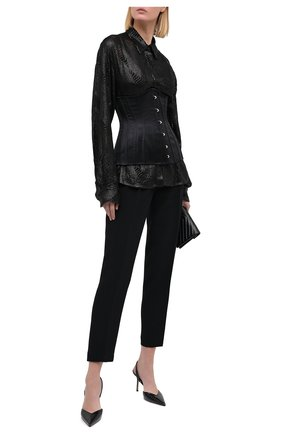 Женский шелковый корсет DOLCE & GABBANA черного цвета, арт. FB306A/FURI7 | Фото 2