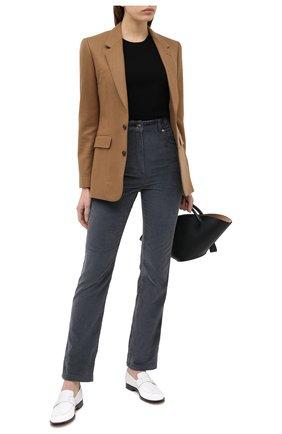Женские брюки KENZO серого цвета, арт. FA62PA0189CR | Фото 2