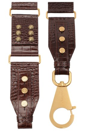 Женский кожаный ремень BALMAIN темно-коричневого цвета, арт. UN0A029/LVCW | Фото 2