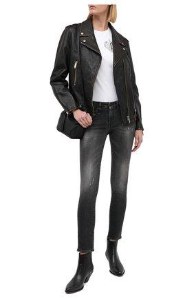 Женские джинсы R13 серого цвета, арт. R13WM4021-17   Фото 2
