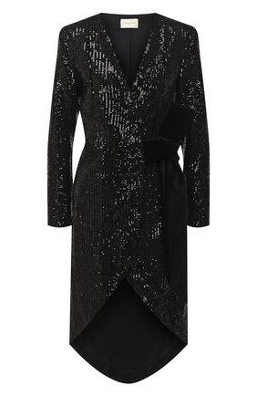Женское платье с пайетками GIUSEPPE DI MORABITO черного цвета, арт. PF20029LD-104 | Фото 1
