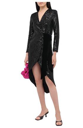 Женское платье с пайетками GIUSEPPE DI MORABITO черного цвета, арт. PF20029LD-104 | Фото 2