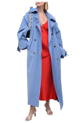 Женский тренч LESYANEBO голубого цвета, арт. FW20/Н-534   Фото 2