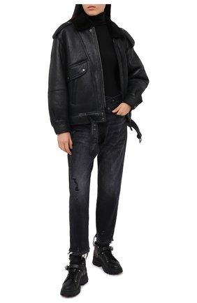 Женская дубленка BARBARA BUI черного цвета, арт. W1280WUZL | Фото 2