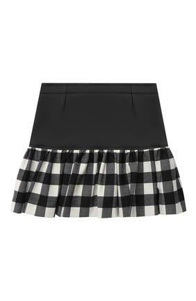 Детская юбка SIMONETTA черно-белого цвета, арт. 1N7000/NB390/5-8 | Фото 1