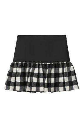 Детская юбка SIMONETTA черно-белого цвета, арт. 1N7000/NB390/5-8 | Фото 2