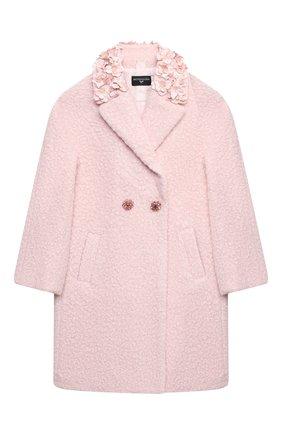 Детское пальто MONNALISA розового цвета, арт. 176109A8   Фото 1