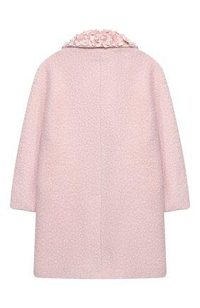 Детское пальто MONNALISA розового цвета, арт. 176109A8   Фото 2