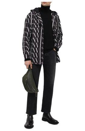 Мужская текстильная поясная сумка  VALENTINO хаки цвета, арт. UY2B0982/QKJ   Фото 2 (Материал: Текстиль)