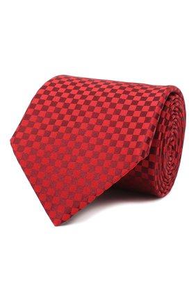 Мужской шелковый галстук LANVIN бордового цвета, арт. 3050/TIE | Фото 1