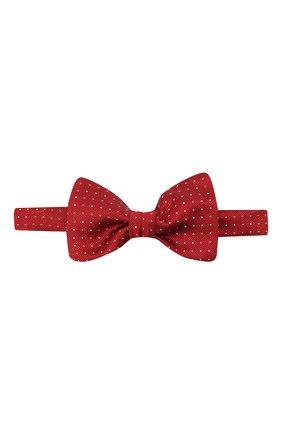 Мужской шелковый галстук-бабочка LANVIN бордового цвета, арт. 1309/B0W TIE | Фото 1