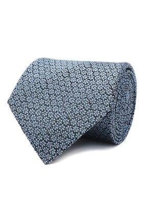 Мужской шелковый галстук LANVIN голубого цвета, арт. 3053/TIE   Фото 1