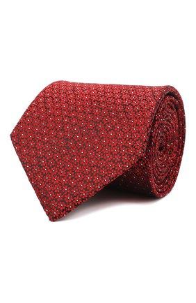 Мужской шелковый галстук LANVIN бордового цвета, арт. 3053/TIE | Фото 1