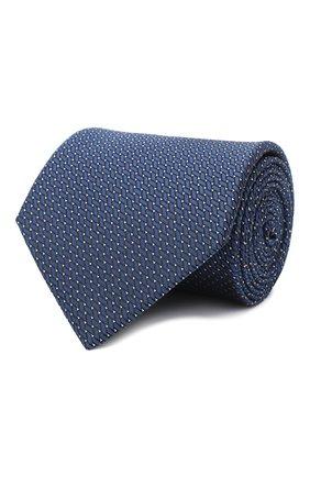 Мужской шелковый галстук LANVIN темно-синего цвета, арт. 3038/TIE   Фото 1