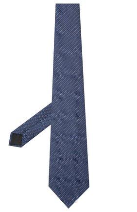 Мужской шелковый галстук LANVIN темно-синего цвета, арт. 3038/TIE   Фото 2