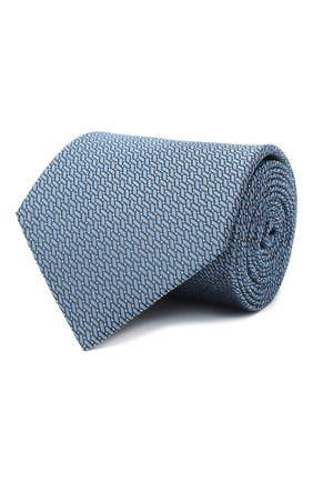 Мужской шелковый галстук LANVIN голубого цвета, арт. 3038/TIE   Фото 1
