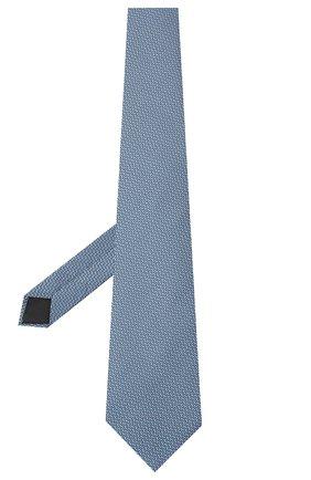 Мужской шелковый галстук LANVIN голубого цвета, арт. 3038/TIE   Фото 2