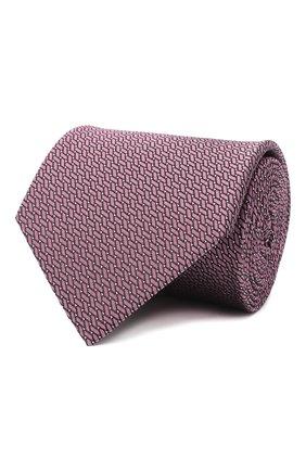 Мужской шелковый галстук LANVIN сиреневого цвета, арт. 3038/TIE | Фото 1