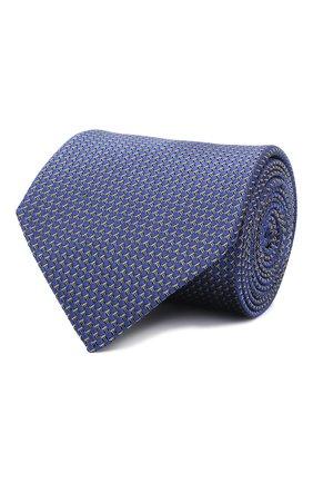 Мужской шелковый галстук LANVIN синего цвета, арт. 3236/TIE   Фото 1