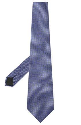 Мужской шелковый галстук LANVIN синего цвета, арт. 3236/TIE   Фото 2
