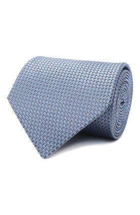 Мужской шелковый галстук LANVIN голубого цвета, арт. 3236/TIE   Фото 1