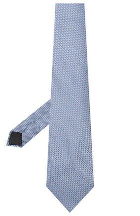 Мужской шелковый галстук LANVIN голубого цвета, арт. 3236/TIE   Фото 2