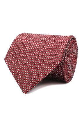 Мужской шелковый галстук LANVIN бордового цвета, арт. 3236/TIE | Фото 1