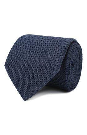 Мужской шелковый галстук LANVIN темно-синего цвета, арт. 1207/TIE   Фото 1