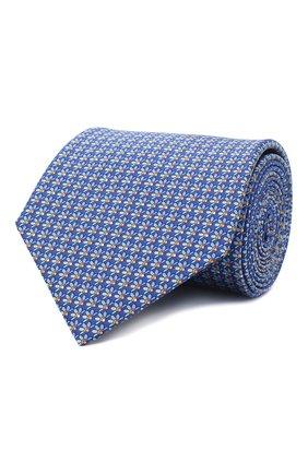 Мужской комплект из галстука и платка LANVIN синего цвета, арт. 4300/TIE SET   Фото 1