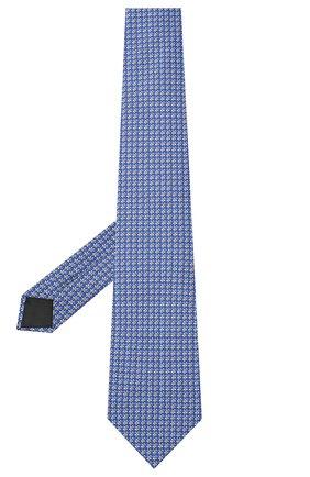 Мужской комплект из галстука и платка LANVIN синего цвета, арт. 4300/TIE SET   Фото 2