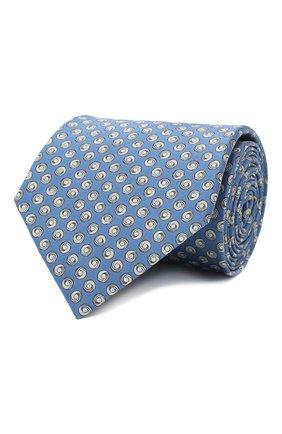 Мужской комплект из галстука и платка LANVIN голубого цвета, арт. 4303/TIE SET   Фото 1