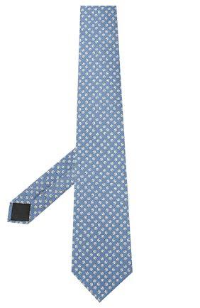 Мужской комплект из галстука и платка LANVIN голубого цвета, арт. 4303/TIE SET   Фото 2