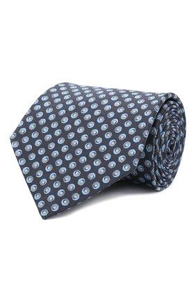 Мужской комплект из галстука и платка LANVIN темно-синего цвета, арт. 4303/TIE SET   Фото 1