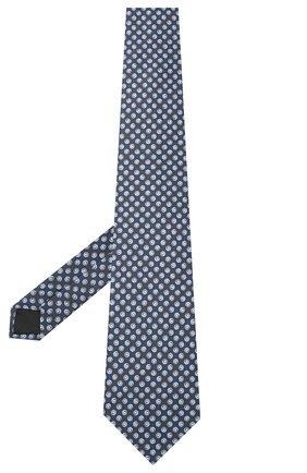 Мужской комплект из галстука и платка LANVIN темно-синего цвета, арт. 4303/TIE SET   Фото 2