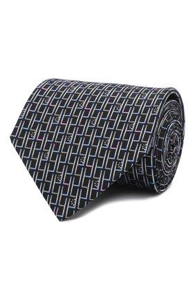 Мужской комплект из галстука и платка LANVIN темно-синего цвета, арт. 4309/TIE SET   Фото 1