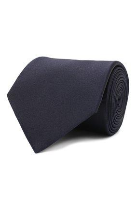 Мужской шелковый галстук LANVIN темно-синего цвета, арт. 3010/TIE   Фото 1