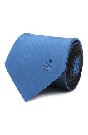 Мужской шелковый галстук LANVIN синего цвета, арт. 3023/TIE   Фото 1