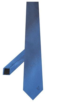Мужской шелковый галстук LANVIN синего цвета, арт. 3023/TIE   Фото 2