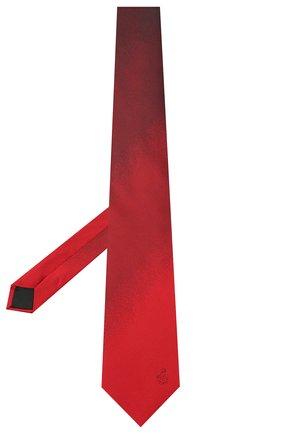 Мужской шелковый галстук LANVIN бордового цвета, арт. 3023/TIE | Фото 2