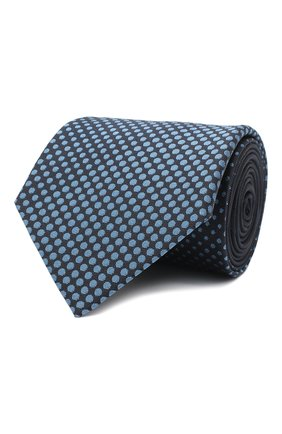 Мужской шелковый галстук LANVIN темно-синего цвета, арт. 3026/TIE   Фото 1