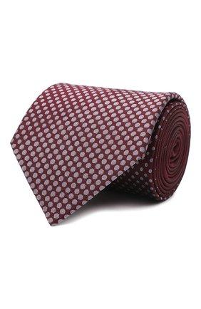 Мужской шелковый галстук LANVIN бордового цвета, арт. 3026/TIE | Фото 1