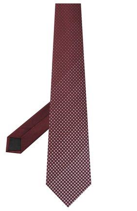 Мужской шелковый галстук LANVIN бордового цвета, арт. 3026/TIE | Фото 2