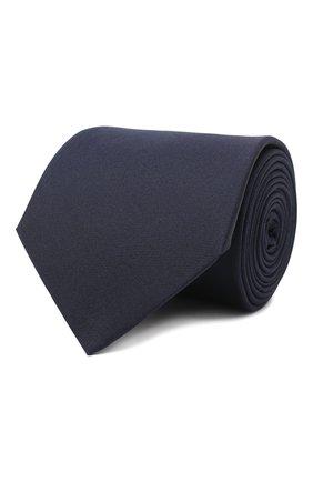 Мужской шелковый галстук LANVIN темно-синего цвета, арт. 3047/TIE   Фото 1